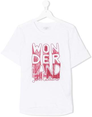 John Galliano TEEN wonder print T-shirt