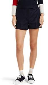 Thom Browne Women's Wool Cuffed Shorts - Navy