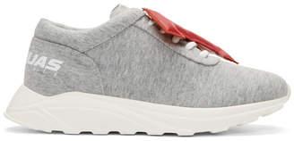 Joshua Sanders Grey LA Letters Sneakers outlet 2014 new 40kRw8GPIJ