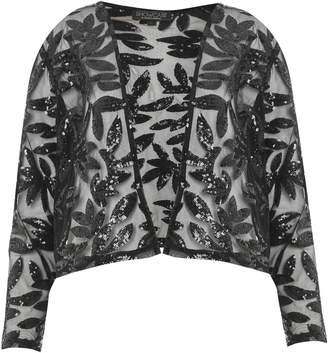 Dorothy Perkins Womens **Showcase Black Sequin Embellished Bolero