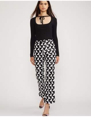 Cynthia Rowley Illusion Geometric Sequin Flare Pant