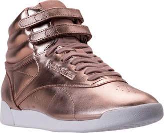 Reebok Women's Freestyle Hi Metallic Casual Shoes
