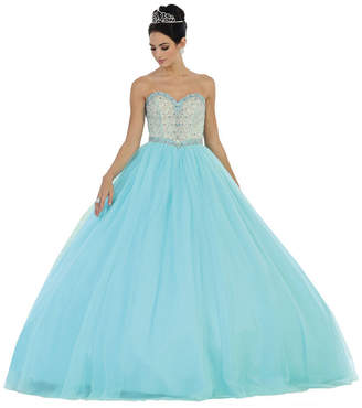 Asstd National Brand Strapless Sweetheart Lace Up Back Quinceanera Ball Gown With Matching Jacket - Juniors