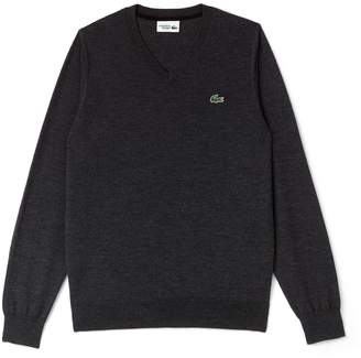 Lacoste Men's SPORT V-Neck Wool Jersey Golf Sweater