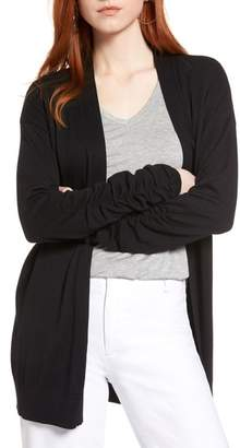 Halogen Ruched Sleeve Cardigan
