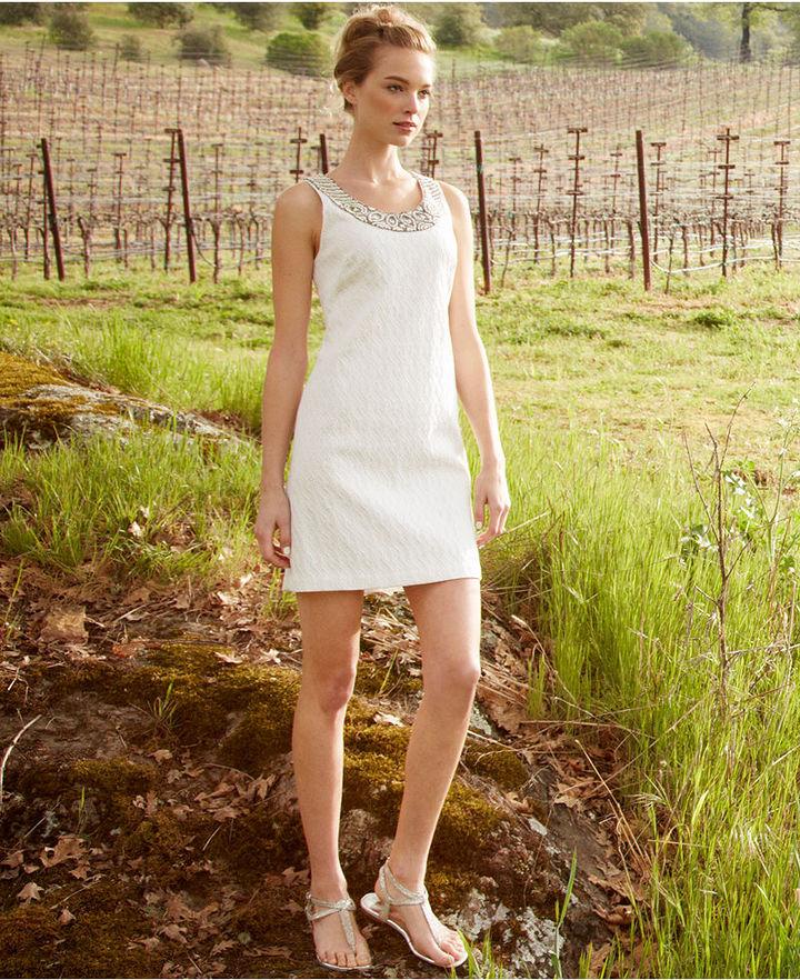 Adrianna Papell Dress, Sleeveless Beaded Jacquard