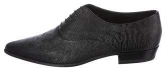 Saint Laurent Lizard Pointed-Toe Oxfords w/ Tags