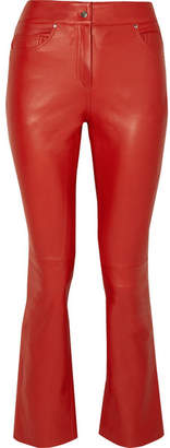 STAND - Avery Cropped Leather Flared Pants - FR34