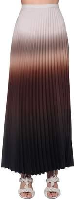 Max Mara Pleated Degradé Light Crepe Midi Skirt
