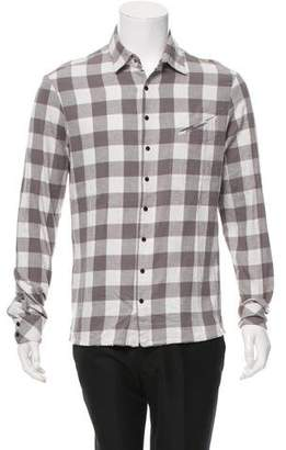 Baja East Checkered Long Sleeve Shirt