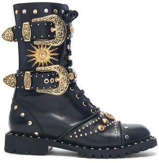 Fausto Puglisi Embellished Leather Boots