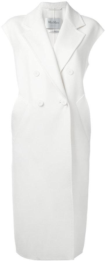Max MaraMax Mara long sleeveless belted coat