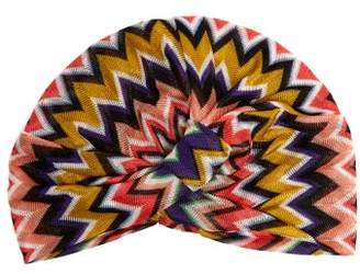 Missoni Mare - Front Twist Zigzag Crochet Knit Turban Hat - Womens - Multi