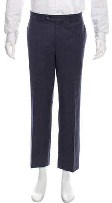Barneys New York Barney's New York Cropped Flat Front Dress Pants