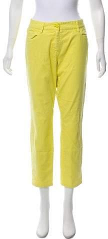 Trina Turk Mid-Rise Straight-Leg Jeans