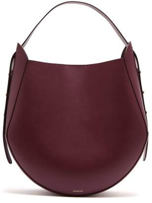 Wandler - Corsta Leather Tote - Womens - Burgundy