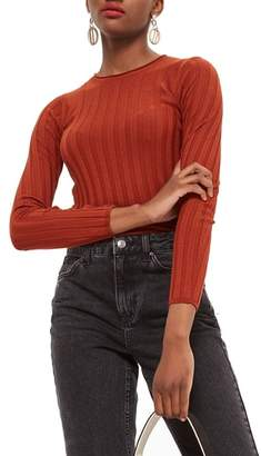 Topshop Popper Crew Sweater