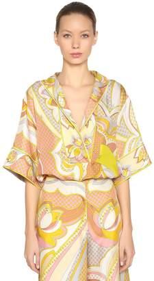 Emilio Pucci Printed Silk Twill Caftan Shirt