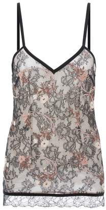 La Perla Daily Looks Leavers Lace Camisole With Embroidery