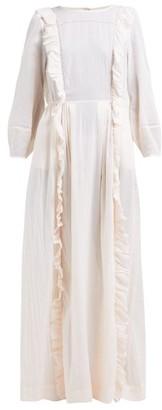 Loup Charmant Wallice Ruffled Cotton Dress - Womens - Pink