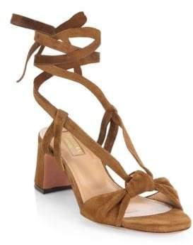 Aquazzura Delicieuse Suede Sandals