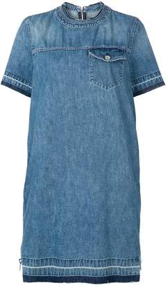 Sacai Zip-Embellished Denim Dress