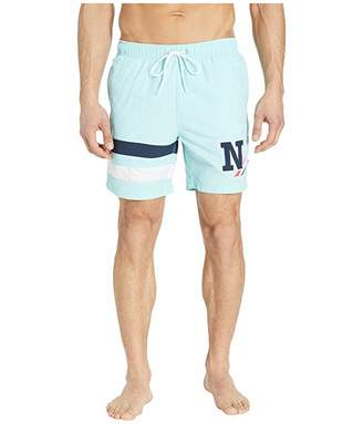 Nautica 6 Stripe Applique Swim Trunks