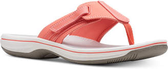 Clarks Collection Women Brinkley Sail Flip-Flops, Women Shoes