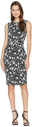 Calvin Klein Floral Print Sheath Dress CD8CPA00 Women's Dress