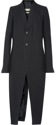 Rick Owens - Wool-twill Coat - Black $2,210 thestylecure.com