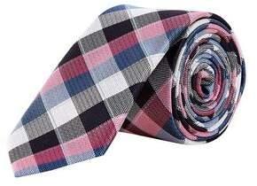 Burton Mens Large Scale Checked Tie