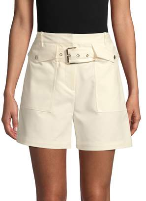 3.1 Phillip Lim Solid Belted Shorts