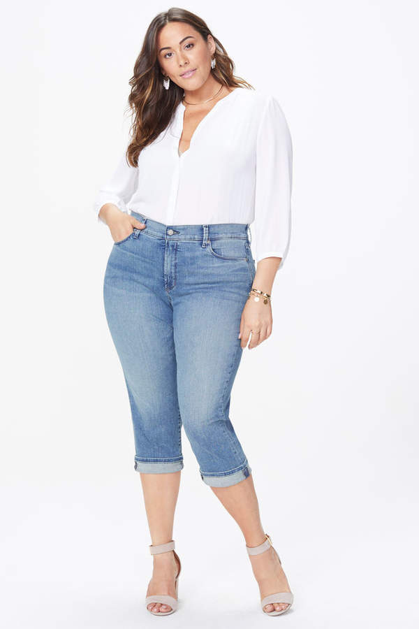 Marilyn Straight Crop Jeans In Plus Size