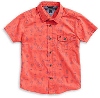 Tommy Hilfiger Cactus-Print Collared Shirt