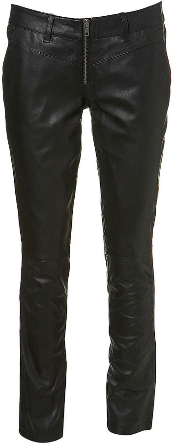 Leather Zip Skinny Trouser