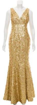 John Paul Ataker Sleeveless Embellished Gown w/ Tags