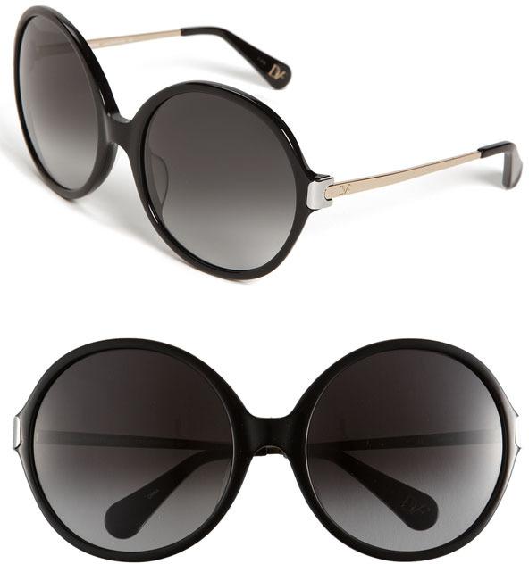 Diane von Furstenberg 'Lais' Oversized Round Sunglasses