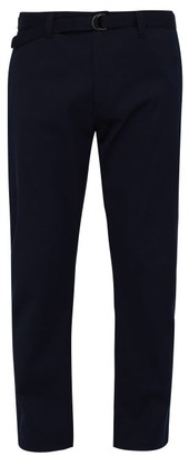 Prada Cotton Twill Workwear Trousers - Mens - Navy