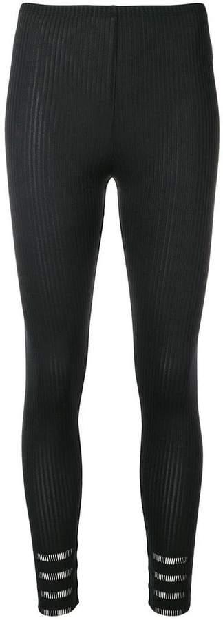 micro pleated leggings