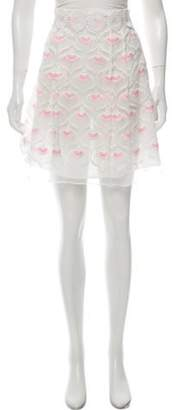 Giamba Embroidered Mini Skirt w/ Tags White Embroidered Mini Skirt w/ Tags
