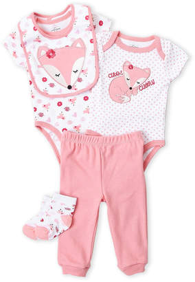 Baby Essentials Quiltex (Newborn Girls) 5-Piece Fox Layette Set