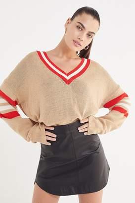 Urban Outfitters Kristen V-Neck Varsity Sweater