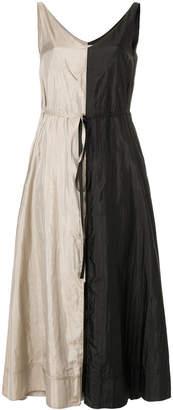 Nina Ricci two tone v-neck dress