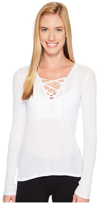 ALO - Interlace Long Sleeve Top Women's Clothing $64 thestylecure.com