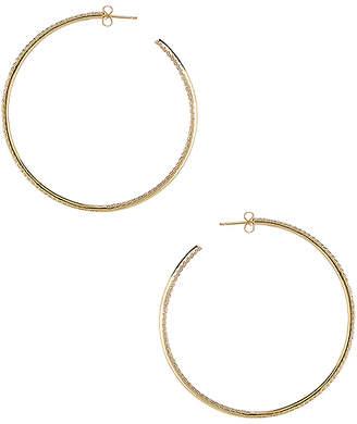 joolz by Martha Calvo Thin Pave Hoop Earrings