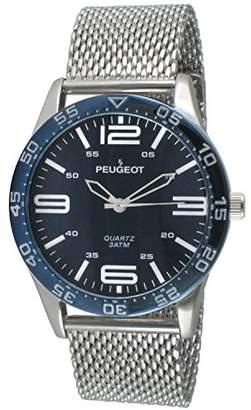 Peugeot Men's 'Mesh' Quartz Metal and Stainless Steel Aviator Watch