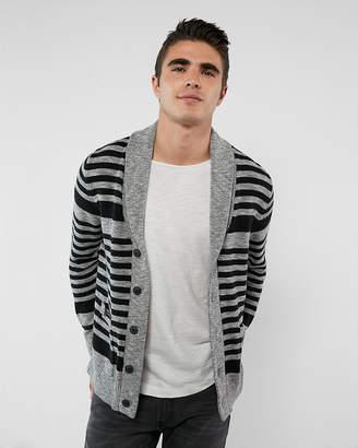 Express Striped Shawl Collar Cardigan
