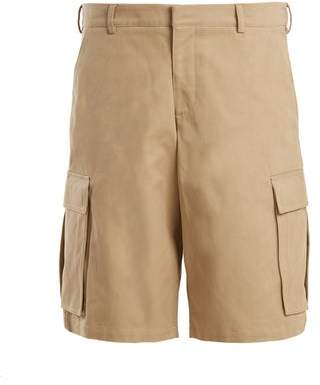 Martine Rose Cargo Pocket Cotton Long Shorts - Womens - Beige