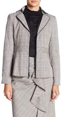 Nanette Lepore Star Crossed Plaid Asymmetrical Jacket
