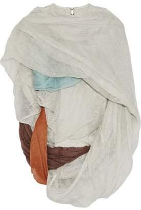 Rick Owens Draped Open-knit Cotton-blend Top